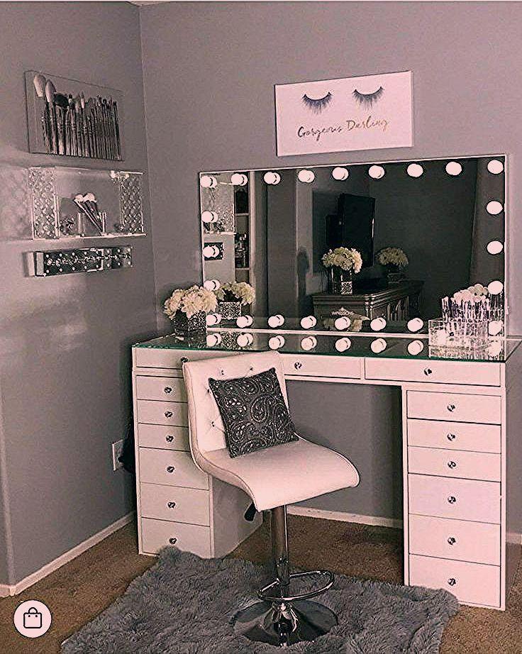 Photo of 40 Kreative DIY Make-up Vanity Design-Ideen, die begeistern
