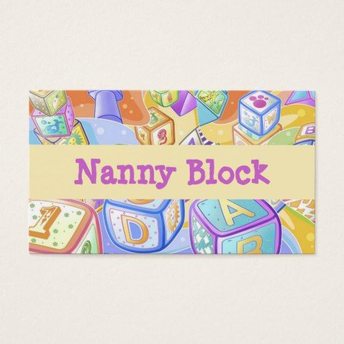 Nanny child day care babysitter business card business cards nanny child day care babysitter business card fbccfo Image collections