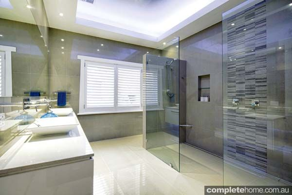 A sleek and symmetrical bathroom design from Bathrooms & Kitchens ...