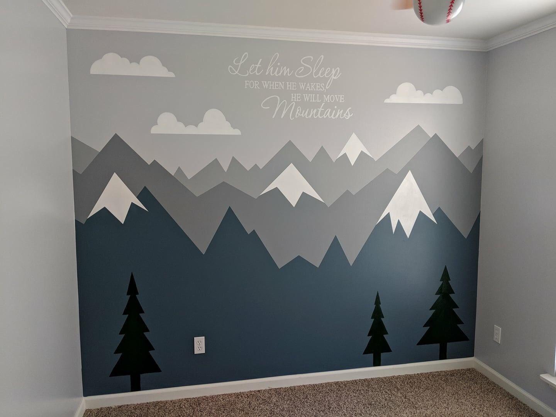 Mountain mural | Kids room murals, Kids room inspiration, Kid room ...