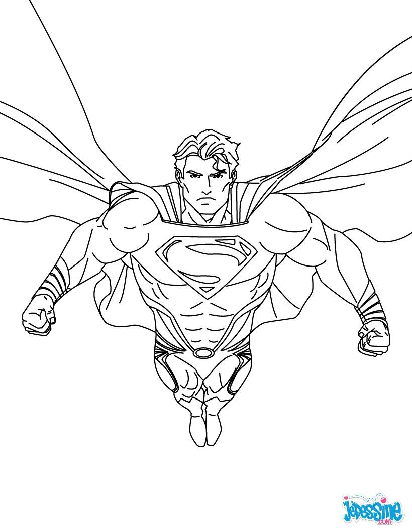 coloriage superman rouge | Super Heros | Pinterest
