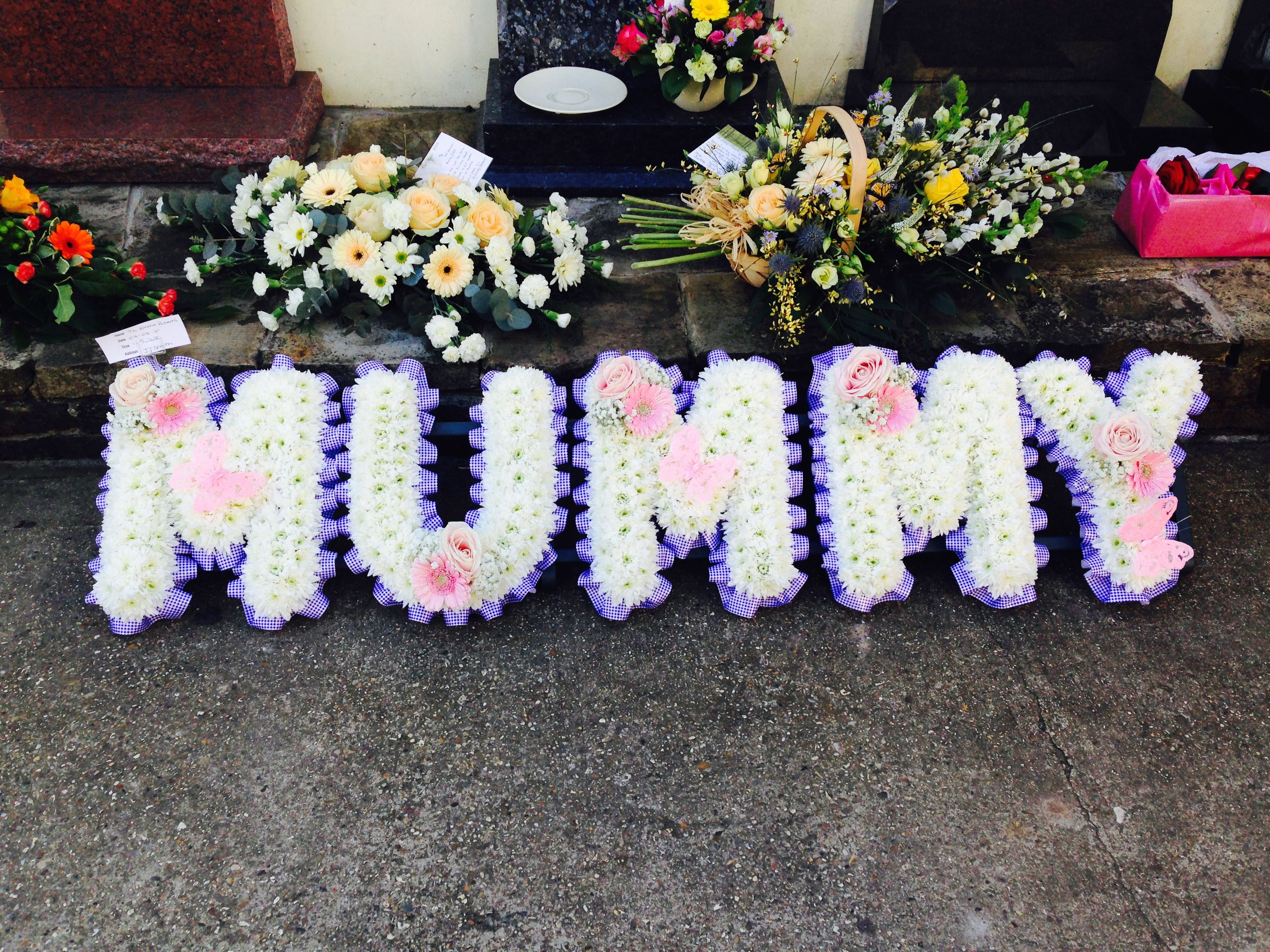 Funeral flowers mummy funeral flower letter tribute www mummy funeral flower letter tribute thefloralartstudio izmirmasajfo Images