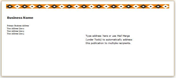 Envelope Template Design for MS Word DOWNLOAD at http\/\/www - address template word