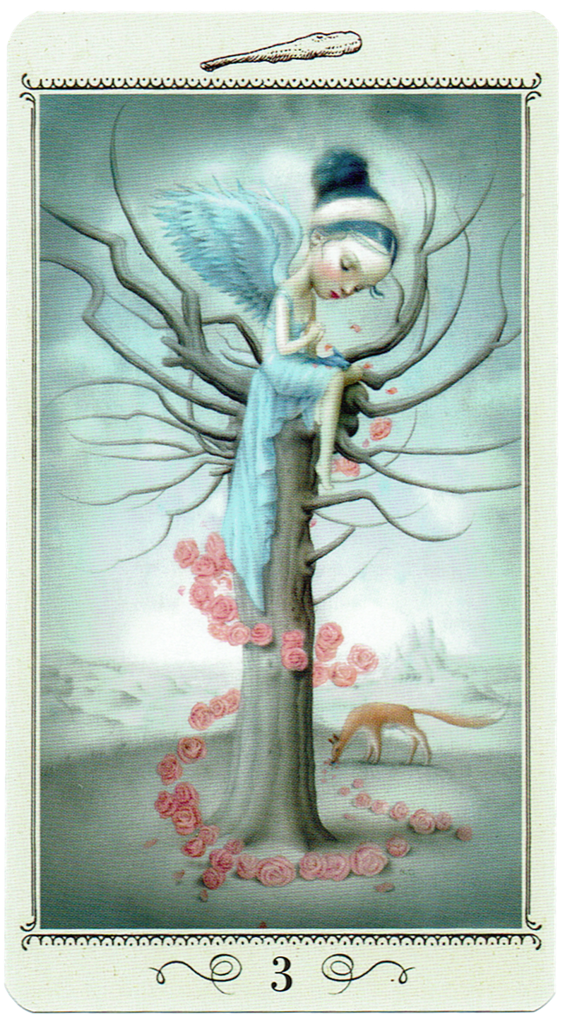 Three of Wands-Reversed from the Nicoletta Ceccoli Tarot. It may feel as though nothing is coming to fruition for you. All that energy you sent out has returned nothing. Things may have been more difficult than you expected. It's ok to be disappointed. Have a little patience and trust that things are working out behind the scenes. Your ships will come in - just not in the fashion that you have imagined. #tarot #disappointment #patience