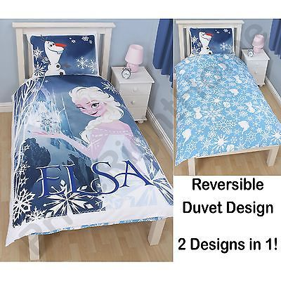 Disney Frozen \u0027Elsa\u0027 Reversible Single Duvet Cover Set Single