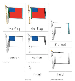 Parts Of The Flag Nomenclature Cards Montessori Montessori Lessons Montessori Geography
