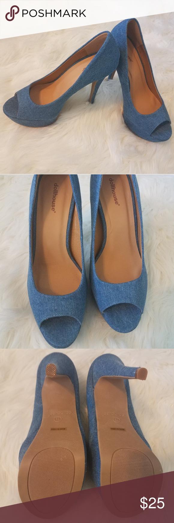 6ff26e1e44 Denim Dollhouse Shoes NWOT - never worn 5