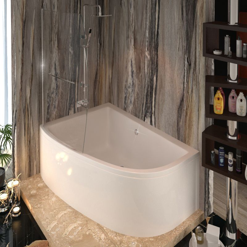 Clia Left Hand Corner Bath And Panel & screen Buy Online at Bathroom ...