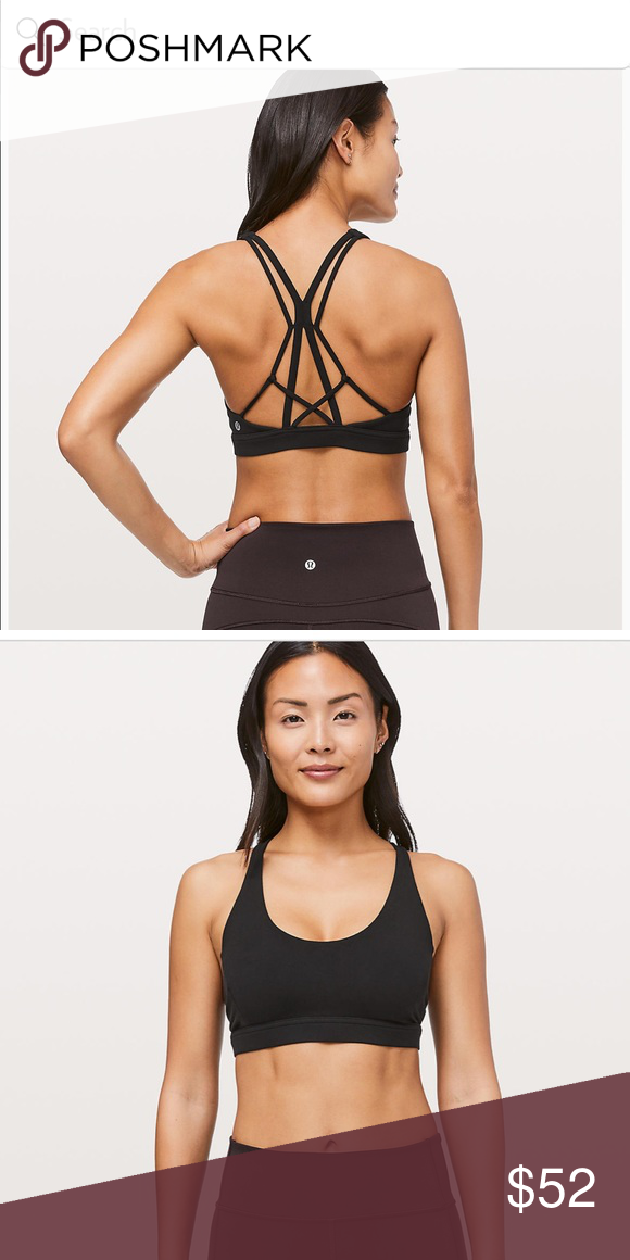 9cc02b5f36 Lululemon Flow Freely Bra Black size 8 Brand new with tags. Light support  for C