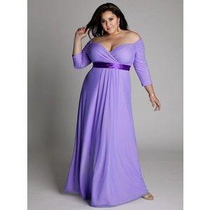 BBW im blauen Kleid