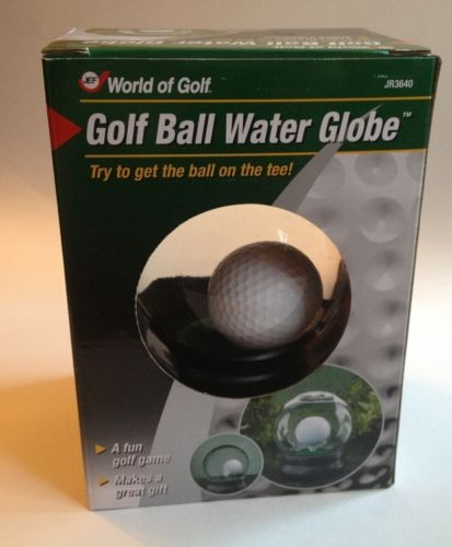 Golf Ball Water Globe Game- Golfer's Must Have! GIFT -NEW!
