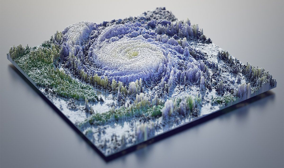 Fast 3D Topographies in Cinema 4D Tutorial
