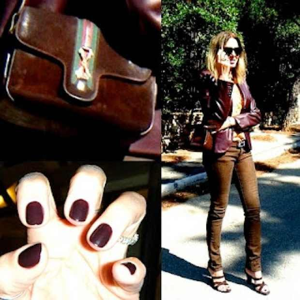burgundy brown