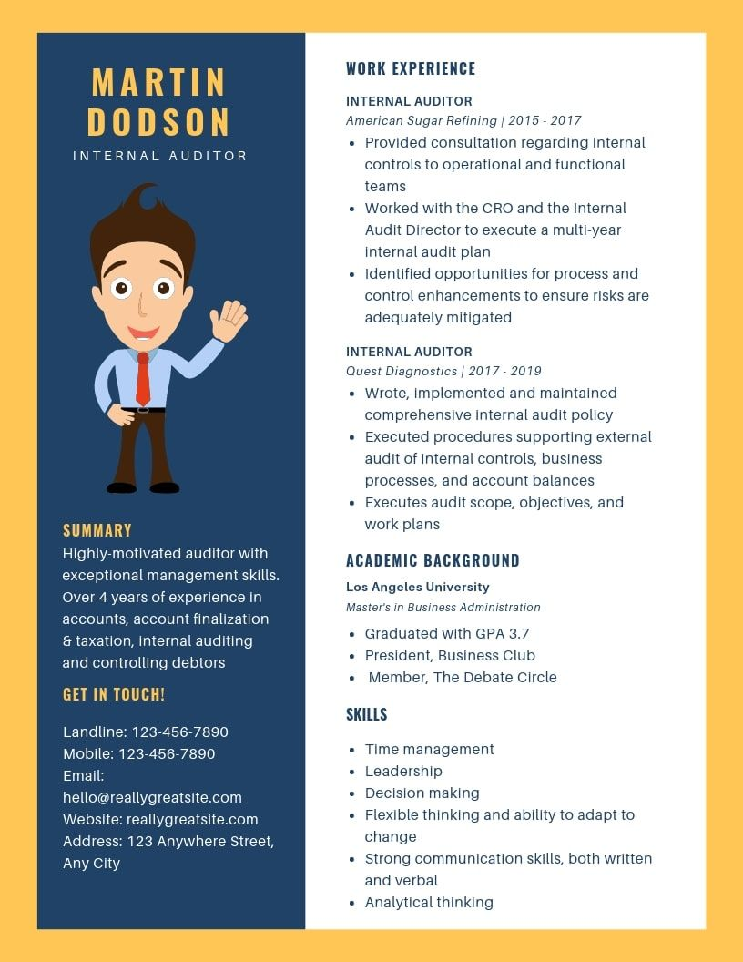Internal Auditor Resume Samples & Templates [PDF+Word