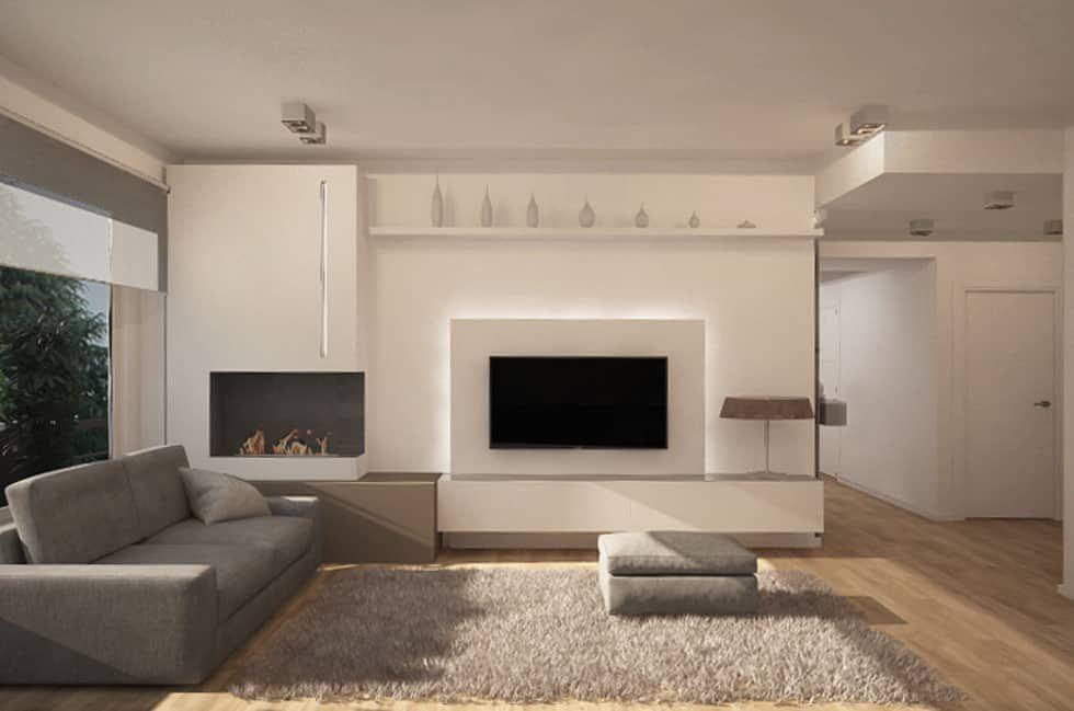 salotto parete attrezzata proposta 1 soggiorno in stile in stile moderno di studio atelier
