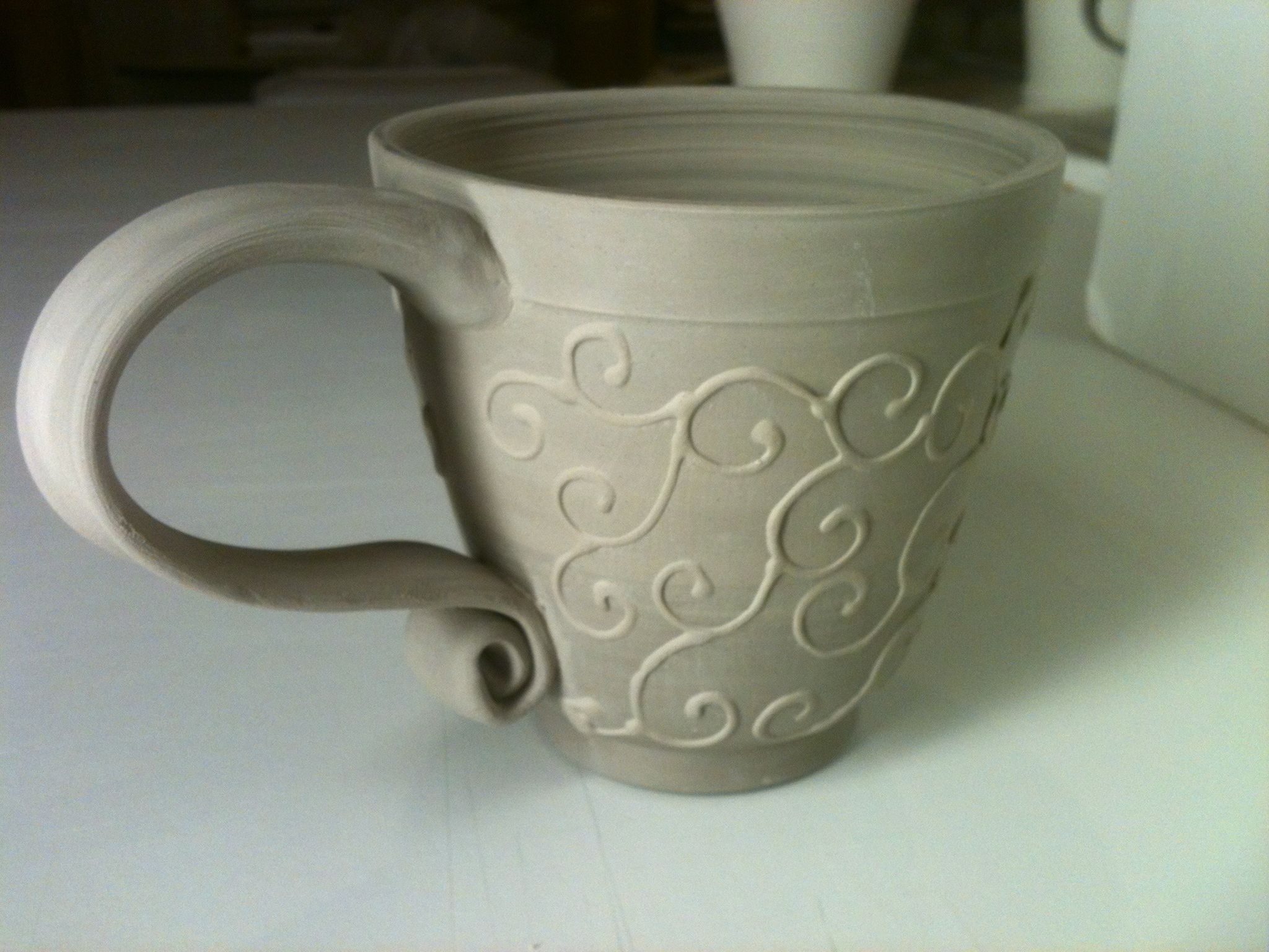 hand building pottery ideas new mug design ideas symmetrical pottery new mugs 03 - Pottery Design Ideas