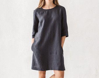 Betere Janid jurk/Shift Dress/linnen eenvoudige jurk/Basic linnen jurk FN-11