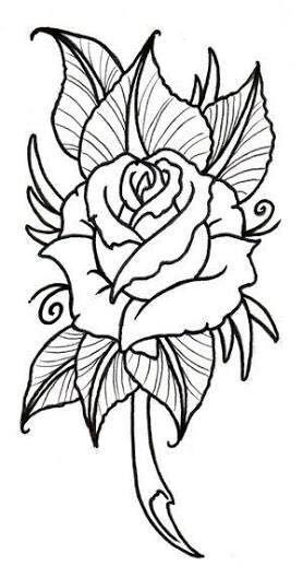 Pin By Dariya On Cicek Modelleri Roses Drawing Flower Outline Rose Embroidery Pattern