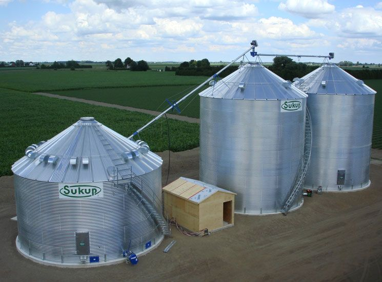 Sukup Grain Bins And Shivvers Drying System Built By Devolder Farms Grain Storage Cool Sheds Grains
