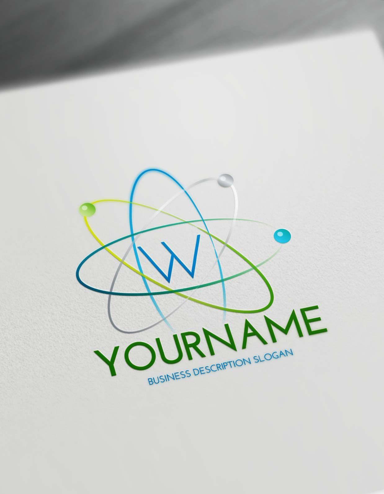 Best Online Logo Creator Science Atom Logo Maker Wonderful Health