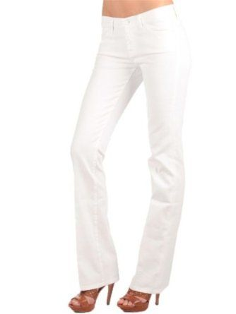 7 For All Mankind Women's Classic Bootcut Jean in Clean White Price:	$97.54 - $162.00 95% Cotton/5% Spandex Machine Wash 10-oz. stretch denim Zip fly Five pocket A dash of spandex promises a flattering fit in 7 For All Mankind's Classic Bootcut Jean in Clean White with a slightly flared leg.