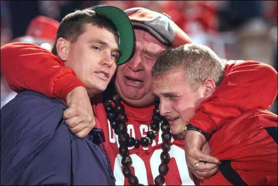 Image result for crying ohio state fans