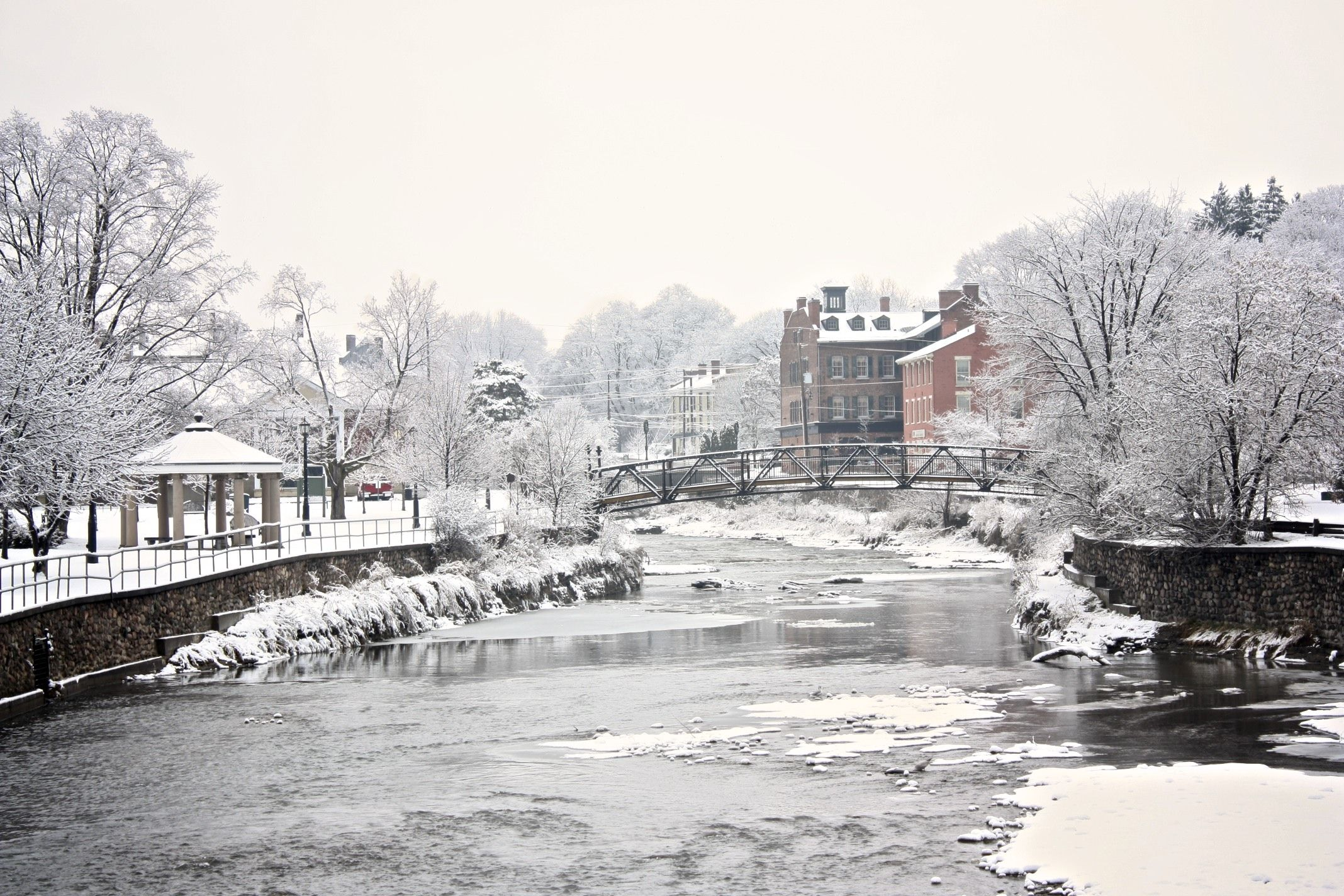 Port Hope, Ontario, after an ice storm. Places