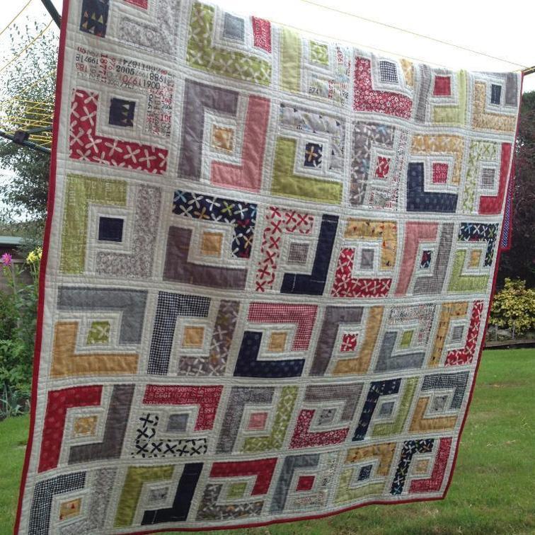 Jelly Roll Quilt Pattern Marcie's Maze   Bluprint