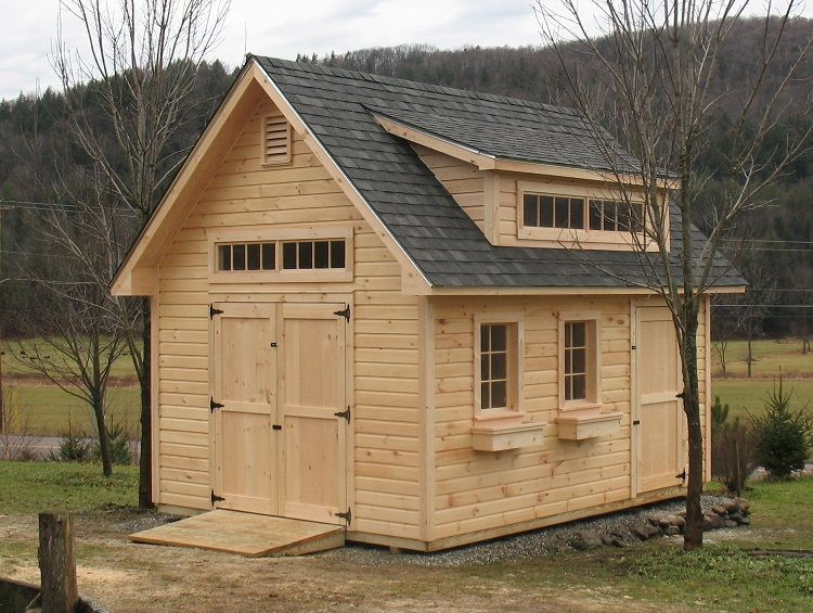 Vermont sheds and barns custom built on site vermont for Garden sheds built on site