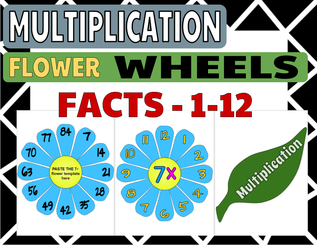 Multiplication Flower Wheel Facts 1 12
