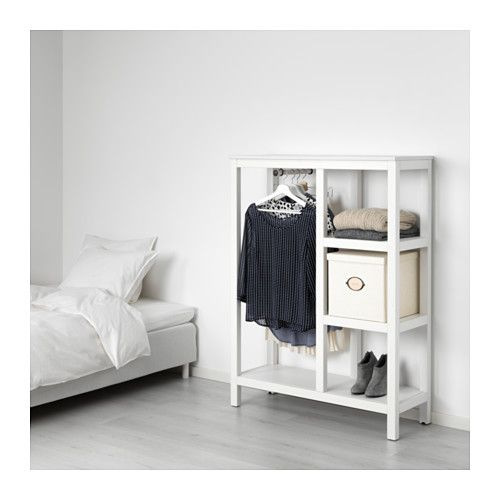 Hemnes Open Wardrobe White Stained 39x14 5 8x51 1 8 Open