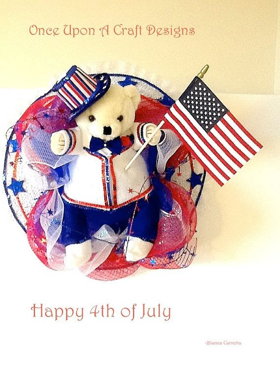 4th of July Bear by OnceUponcraftdesigns on Etsy