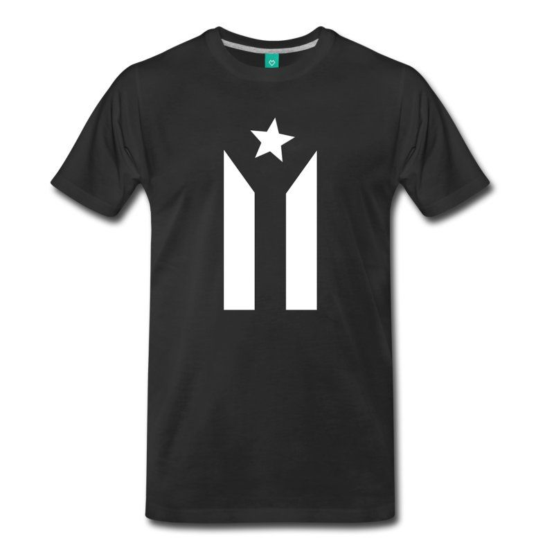 The Puerto Rican Black And White Flag Is An Expression Of National Protest And Resistance Against The Black And White Flag Custom T Shirt Printing Flag Tshirt