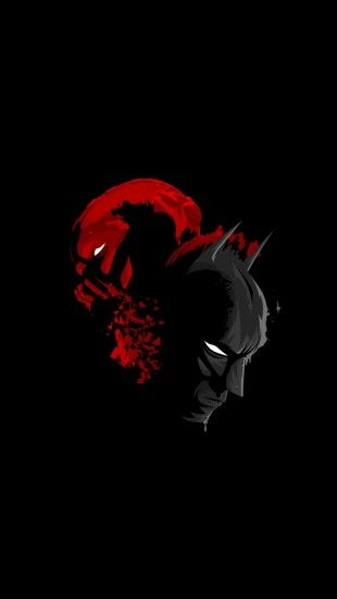 Black Batman And Red Bane The Iphone Wallpapers Batman Illustration Batman Wallpaper Batman Art Bane in dark knight rises hd wallpapers