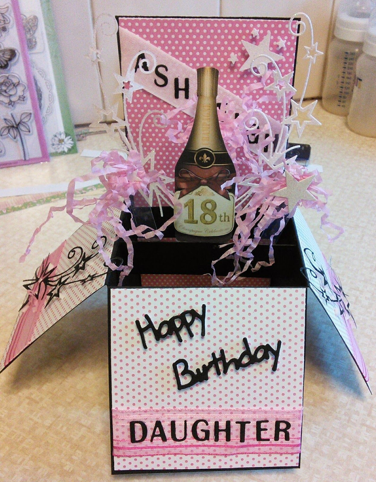 Kyms kreations d popup card boxes pinterest box cards and