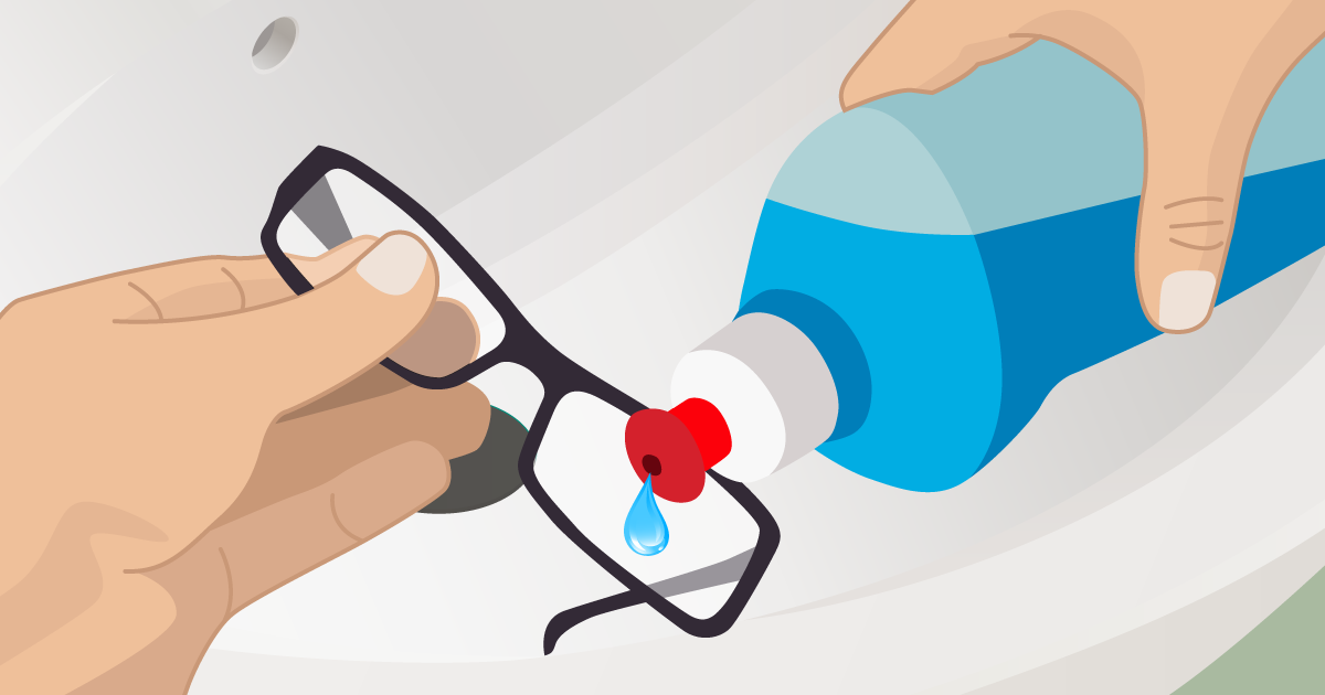 How to clean your glasses the right way Cleaning eye