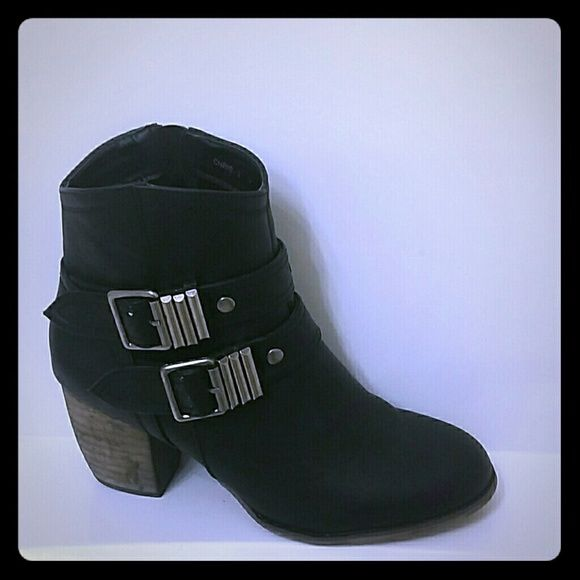 Black Ankle Booties Black ankle bootie MiXX Shoes Ankle Boots & Booties