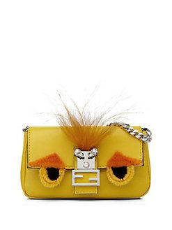 Fendi - 'Micro Leather & Mink Buggie Baguette' avail…