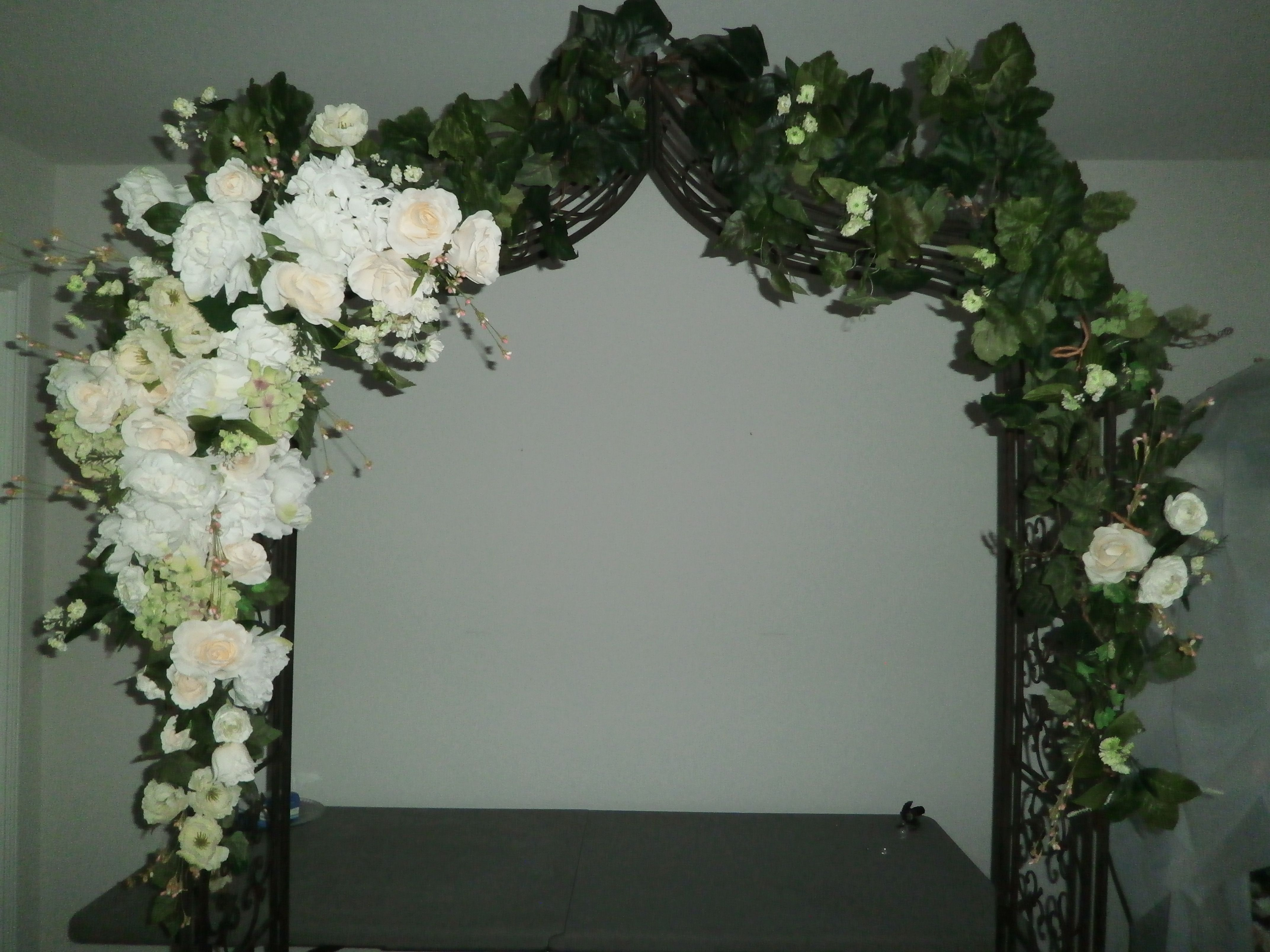 Wedding Arches Hobby Lobby Garden Arch With Fls On One Side