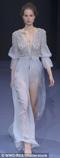 Whimsical: A real delight on the catwalk...