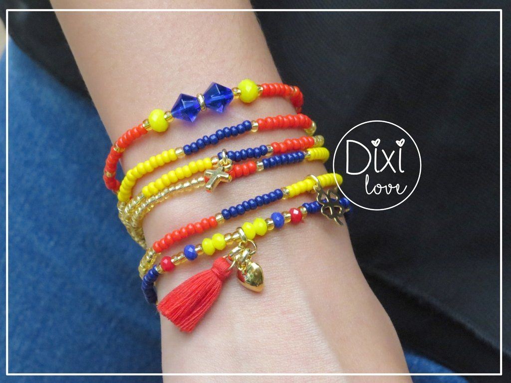 069d3e100a1e Hermosas pulseras inspiradas en nuestro bello tricolor
