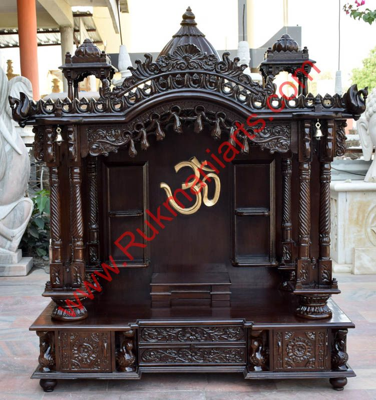 Wooden Temple / Mandir Home Indian Design Small Wooden Mandir Hand Carved  Teakwood Home Temple Designs