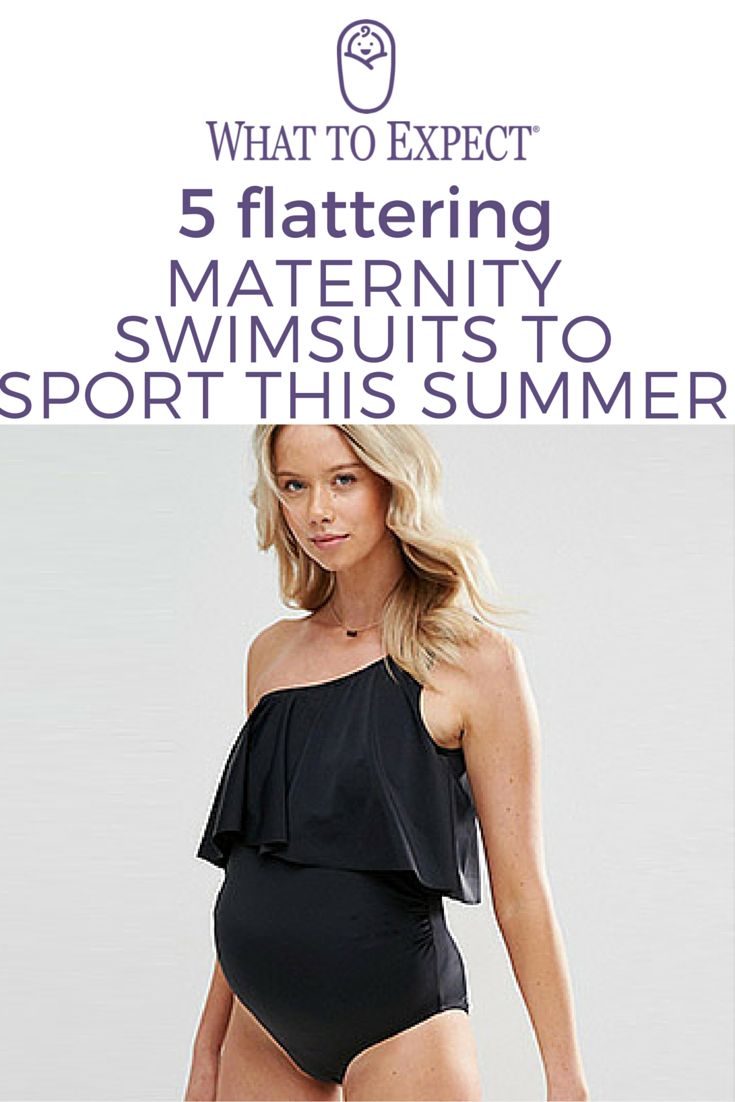 76a2cac8a9591 Having a good maternity swimsuit is key! Not only is swimming a great way  to stay active, a quick dip can help keep you cool in the hottest months.