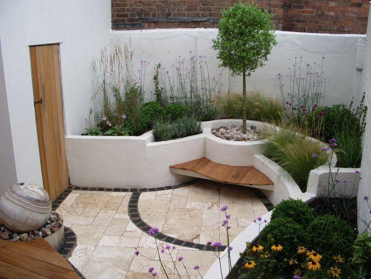 Pflanzenbeete und Terrassierung für kleinen Garten Garten Pinterest Patios ~ 21110108_Kleinen Garten Gestalten Für Kinder
