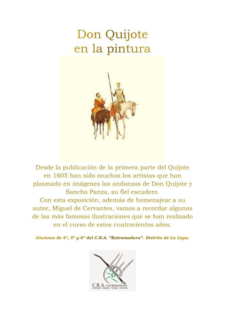 Un trabajo de los alumnos del distrito de La Lapa del CRA Extremadura en conmemoración del cuarto centenario de la muerte de Cervantes.