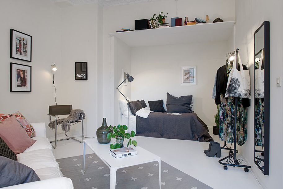 project Swedish apartment 13 Single Room Apartment With an Interesting  Layout in Gothenburg, Sweden