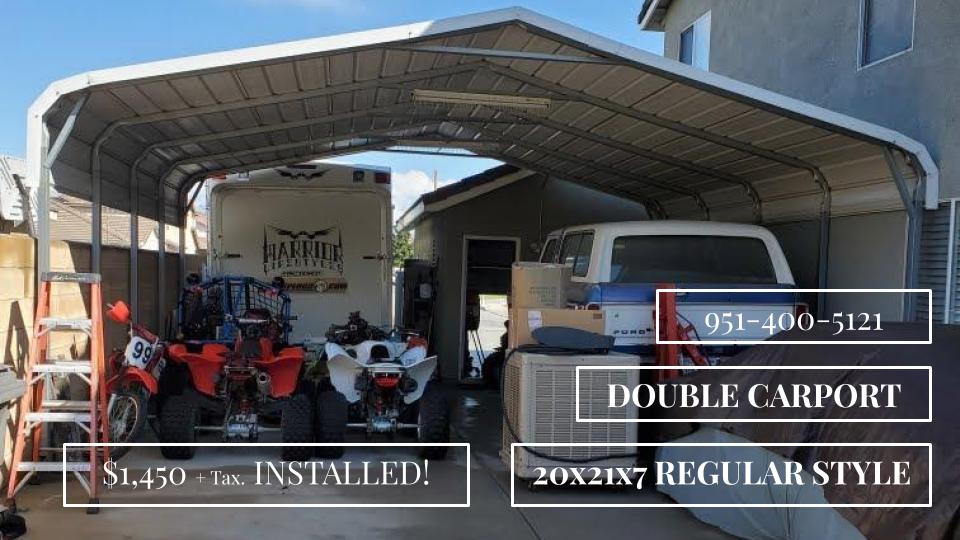 Double Carport In 2020 Double Carport Metal Garages Carport