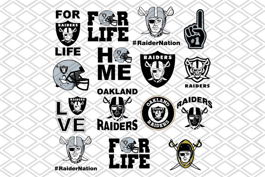 Oakland Raiders Svg Bundle Nfl Team Svg Logo Svg Files For Cricut Svg Dxf Eps Png Instant Download In 2020 Svg Files For Cricut Svg Raiders