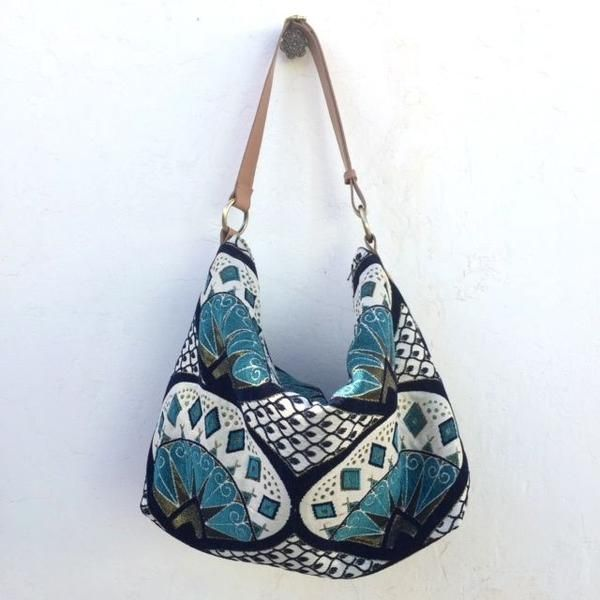 74d12d92f764 Hobo Turkish Blue with Adjustable Strap - The latest Mushmina design is  available in both Mina