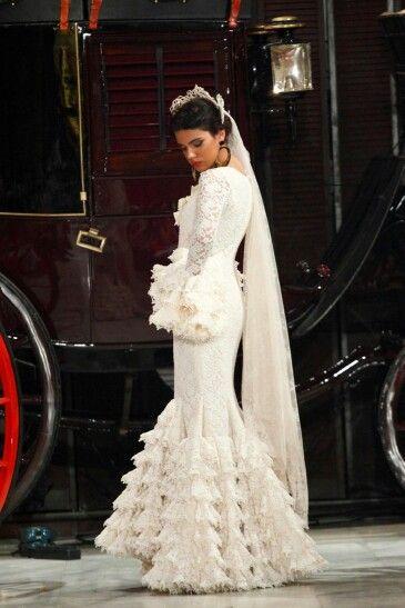 vestido 3 | white | schleier, spanisch